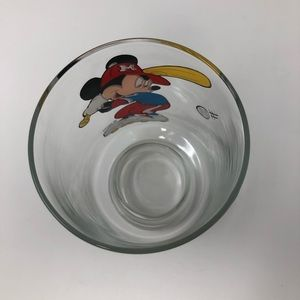 DISNEY Mickey Mouse Baseball Glass Drinking Cup